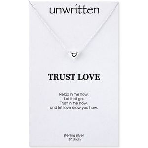 UNWRITTEN Love Sterling Silver Heart Necklace